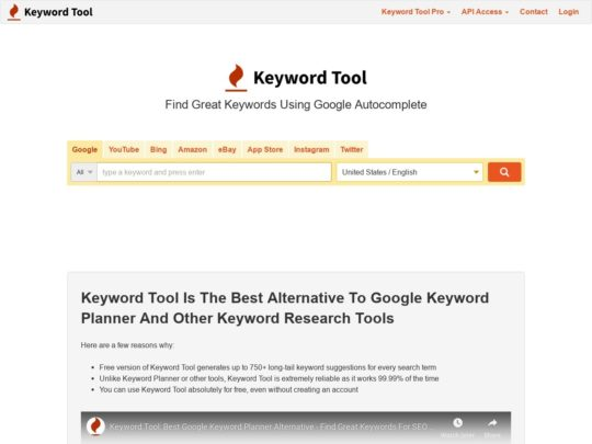 Keyword Research Tools Reviews - Web 101 Best