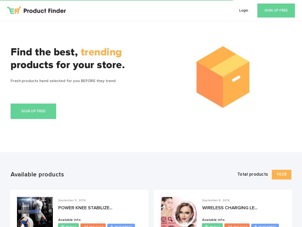EH Product Finder